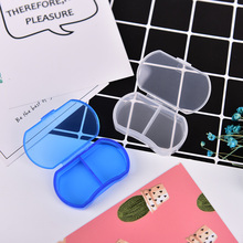1pc 2 Grids Container Tablet Sorter Box Mini Medicine 7 Day Weekly Storage Pill Case Organizer