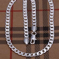 """wholesale 8mm width 925 Silver man jewelries fashion jewerly 20"""" mens chain curb necklaces"""