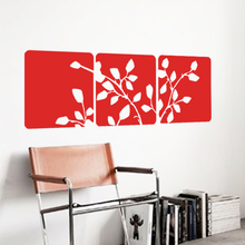 Art Design Beautiful tree leaves Wall sticker Vinyl Square Flowers decals Modern Plane home decor for living room bedroom