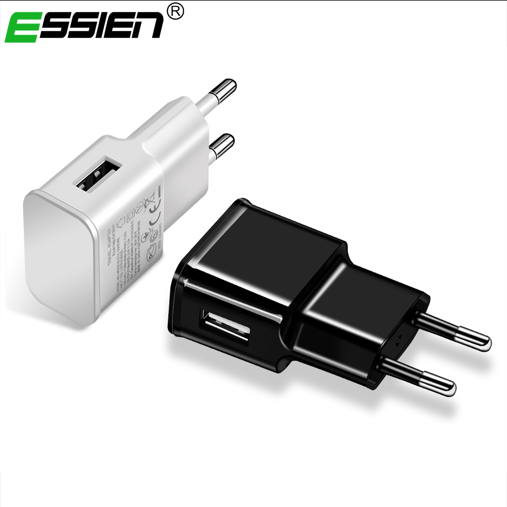 Essien Mobile Phone Charger 5V1A/5V2A USB Travel Charger Portable Wall Adapter For iphone Samsung Tabltes EU/US Plug USB Charger