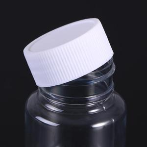 Image 5 - 12Pcs 80ml לחיות מחמד הגלולה מיכל בקבוקי כימי רפואה לוח אחסון מחזיק הגלולה Dispenser עם לבן כובע