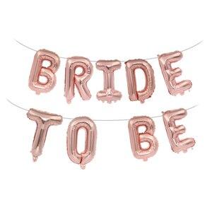 Image 4 - 웨딩 신부 샤워 16 inch 골드 실버 신부 편지 포일 풍선 다이아몬드 반지 풍선 암탉 파티 호의 장식