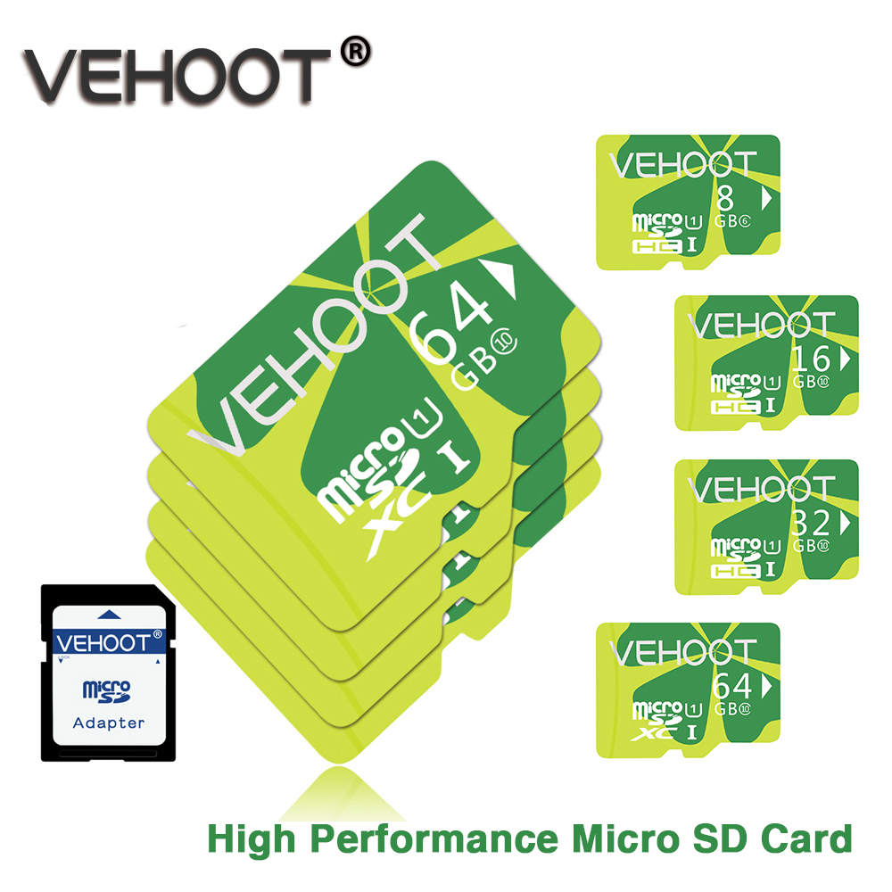 vehoot micro sd 32 gb class 10 memory card 16gb 8gb flash. Black Bedroom Furniture Sets. Home Design Ideas