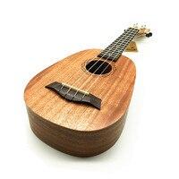 21 pollice piccolo Ukulele Ananas a forma di Soprano Ukulele all'ingrosso Mogano Ukulele 4 Corde Palissandro strumento Musicale