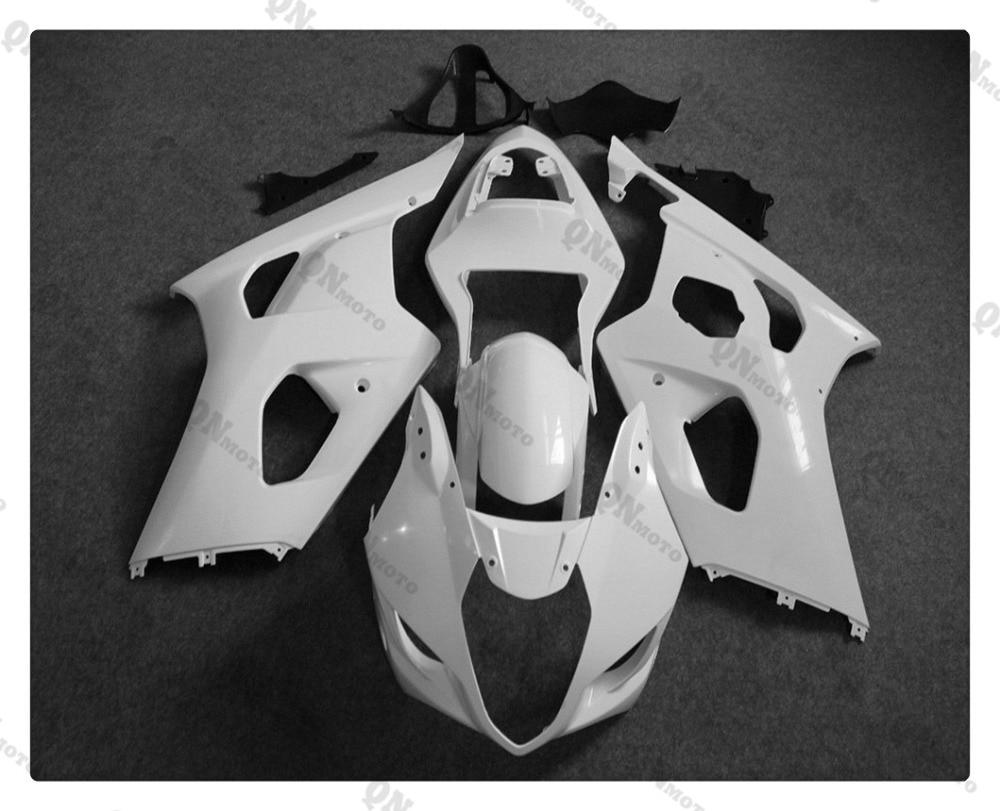 Motorcycle Unpainted White Fairing Cowl Body work Kit For SUZUKI GSXR1000 GSXR 1000 2003 2004 + 4 Gift