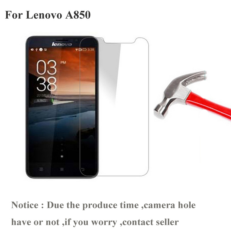 2PCS For Lenovo A850 A 850 Tempered Glass Screen Protector 0.26mm 2.5 9h Safety Protective Film For Lenovo A850 Plus Film