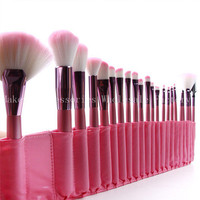 New 50SET Pink Makeup Brushes Set 22 Pcs Set With Package Wooden Foundation Powder Concealer Brushes