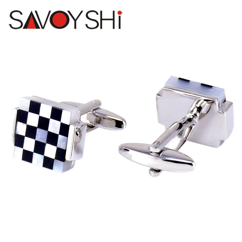 """""""SAVOYSHI"""" prabangūs kvadratiniai rankogalių segtukai vyrams - Mados papuošalai - Nuotrauka 3"""