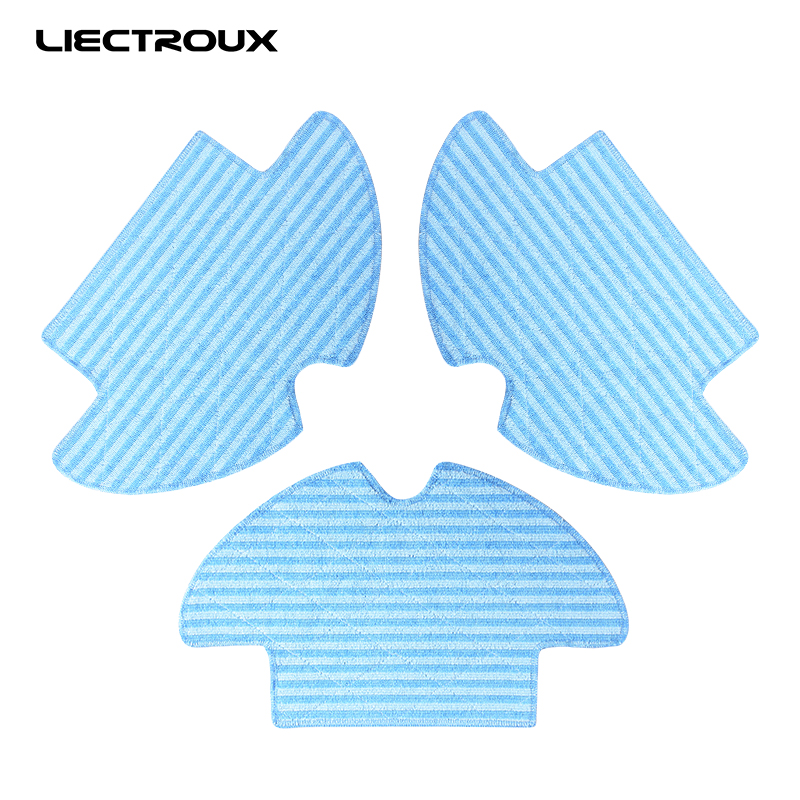 (For Q7000) Liectroux Original Mop for Vacuum Cleaning Robot, 3pcs/pack free all liectroux a335 vacuum cleaner sweep mop sterilize lcd screen schedule remote control 2 way virtualblockerself charge