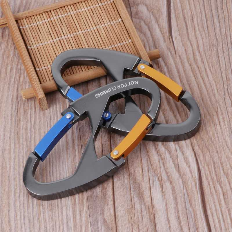 8 Shaped Carabiner Keychain Snap Clip Hook Hiking Buckle Outdoor Camping Tool Dropshipping