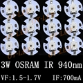 10pcs 50pcs 100pcs Infrared Red 940nm 3W OSRAM High Power LED Chip IR 940Nm LED Beads for Night Camera with 16mm pcb