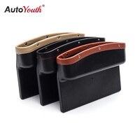AUTOYOUTH Car Seat Crevice Pockets 3 Color PU Leather Leak Proof Storage Box Car Organizer Universal