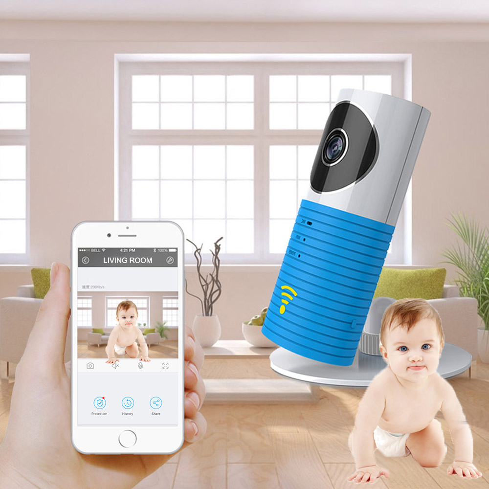 HD Mini Wireless 720P Wifi Baby Monitor With IP Camera Infant Clever Dog Video Security Two-way Indoor TOPS Audio Night Vision 720p hd hi3518c ov9712 indoor mini security video ip camera with free cms software for home baby security