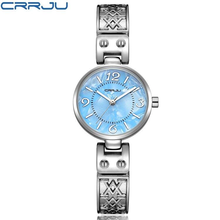 2017 festival Memorial Day gift CRRJU women creative slim strap wristwatch brief design elegance fashion quartz lady watches цена 2016