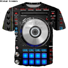 YX GIRL 3D spausdinti Moterys Vyrai marškinėliai Rokas DJ Spausdinti Punk Mens tee Hip hopas Puloveris marškinėliai Moletom Masculino