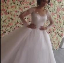 vestidos de novia 2016 wedding dresses Long Sleeve Lace Appliques Sweetheart Ball Gown Wedding Dress Court Train Plus Size