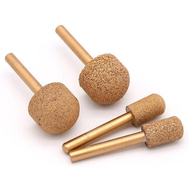 1Pcs 46 #/100 #12 25MmสูญญากาศBrazed Diamond Burrsโรตารี่เครื่องมือสำหรับหินอ่อนหยกagate EmeradleบดหัวบดBits