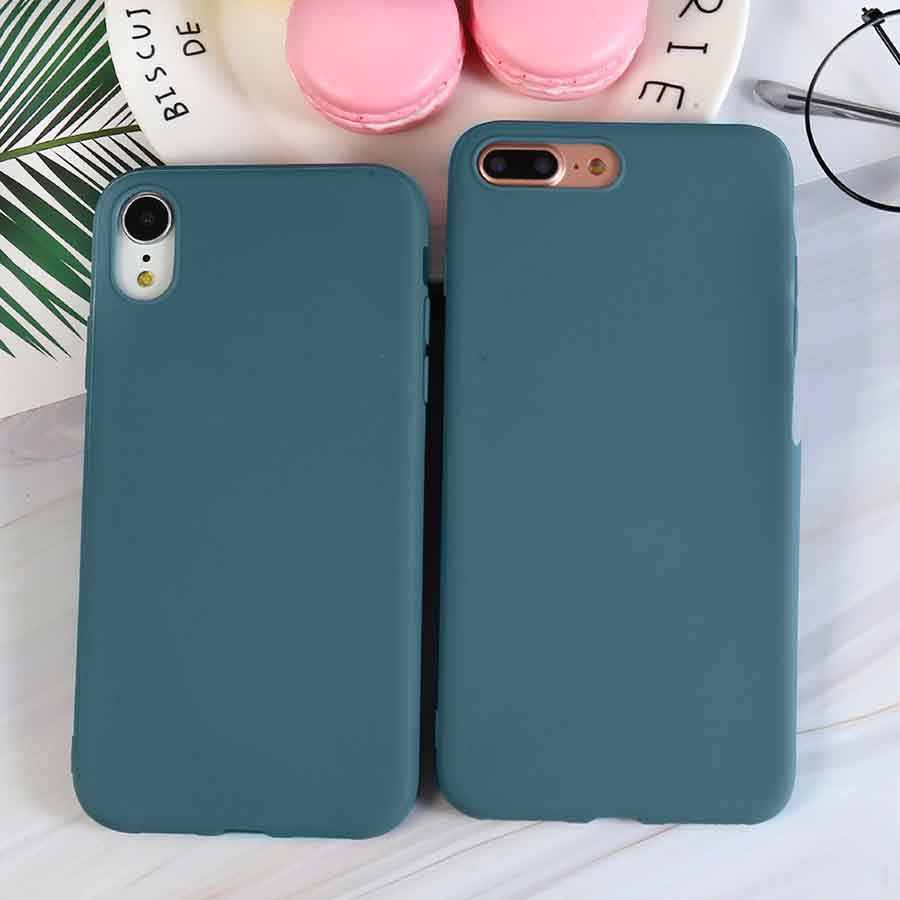 Falta de cor azul caso para iphone 5 5S se 6s 7 8 plus xs max xr x capa completa para iphone 7 8 plus 11 pro max 6.5in casos funda