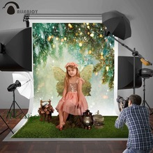 Allenjoy spring photography background easter glitter winter pine tree decor backdrop photobooth photo studio photocall printed