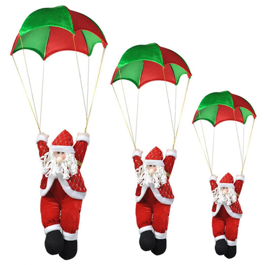 Christmas Pendants Home Window Ceiling Decor Parachute Santa Claus Xmas New Year Hanging Pendant Christmas Decorations Supplies