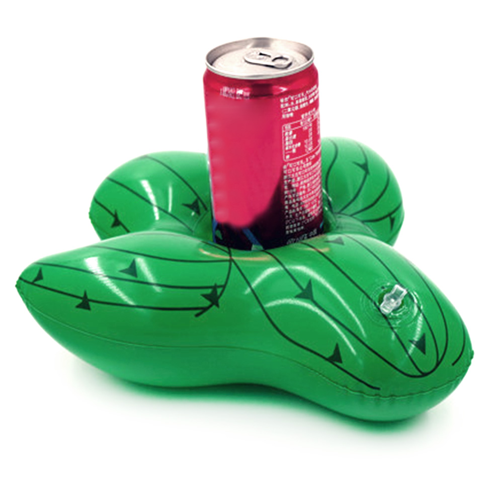 3pc New Inflatable Cactus Cup Seat Floating Drink Cup Holder Inflatable Coaster PVC Beach Pool Cup Holder
