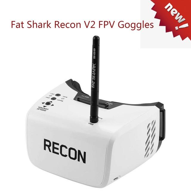 Gros requin Recon V2 FPV lunettes vidéo avec 5G8 récepteur 4.3