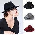 Новая Мода Шерсти женщин Черный Maison Michel Шлема fedora Для Laday шерстяные Широкими Полями Джаз Церковь Cap Старинные Панама Sun Top Hat 20