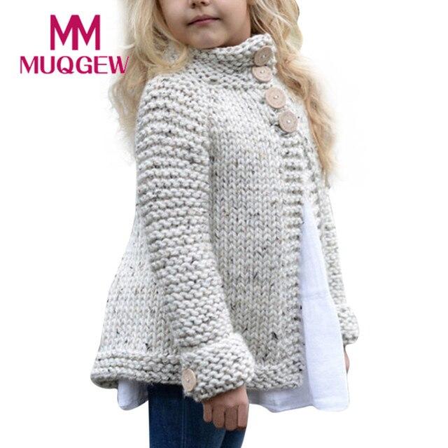 свитера для девочек одежда девочек младенцев кнопка вязаный свитер
