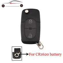 Gorbin For Cr1620 Cr2032 Battery Holder Optional Key Shell Audi A2 A3 A4 A6 Old Models 2 On Folding Remote Case