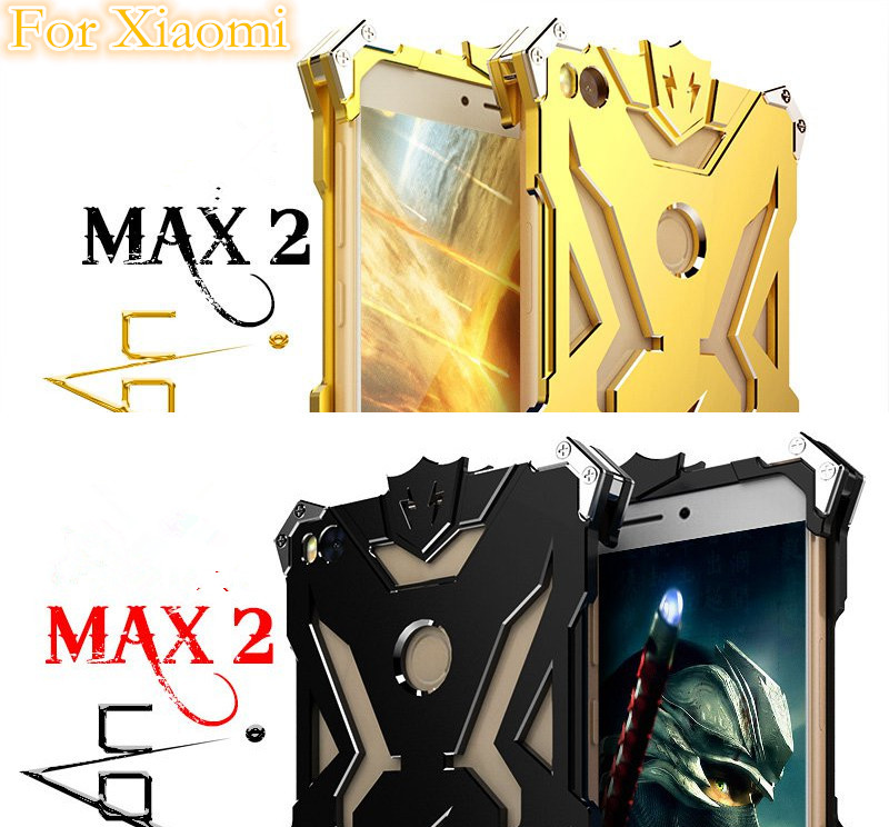 imágenes para Para Xiaomi mi Max 2 Caso Zimon THOR IRON MAN Teléfono Del Metal de Aluminio Cubierta de la Caja de Protección para Xiaomi mi Max 2