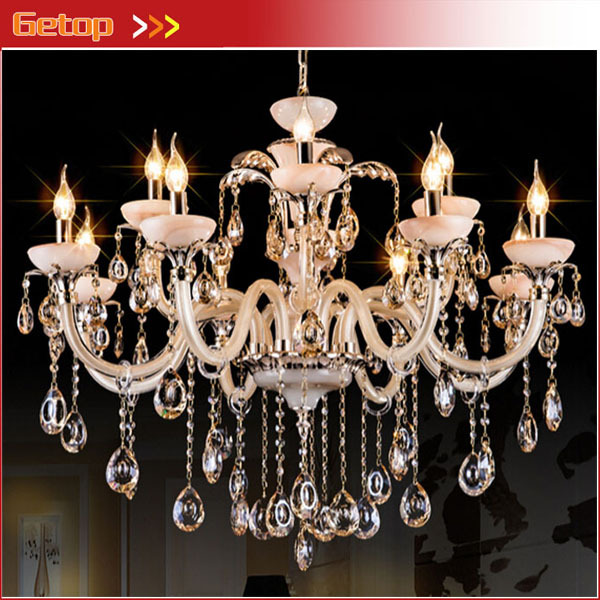 Best Price Modern European Luxury Crystal Chandelier Living Room Lamp Bedroom Lamp Restaurant Lights LED Lighting Fixture modern crystal chandelier led hanging lighting european style glass chandeliers light for living dining room restaurant decor