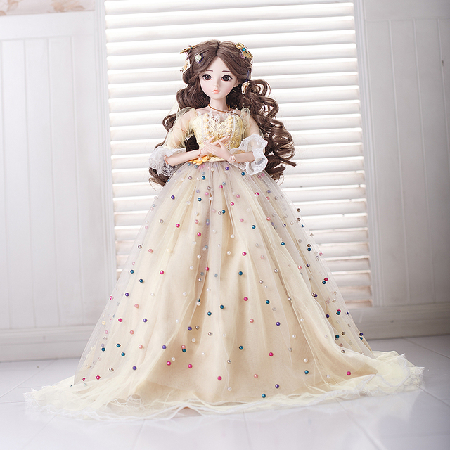 UCanaan 23 6 18 Ball Joints BJD SD Doll with Clothes Outfit Shoes Wig Hair Makeup