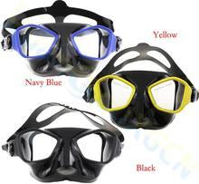 цены на 4pcs adult Anti-fog scuba diving glasses gears equipment silicone Tempered Glass Goggles diving mask spearfishing mask  в интернет-магазинах