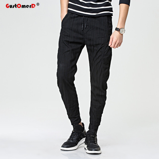 GustOmerD Striped Men Pants 2017 New Spring Hip Hop Fashion Brand Joggers Sweatpants Harem Pants Men Slim Sporting Pants Men