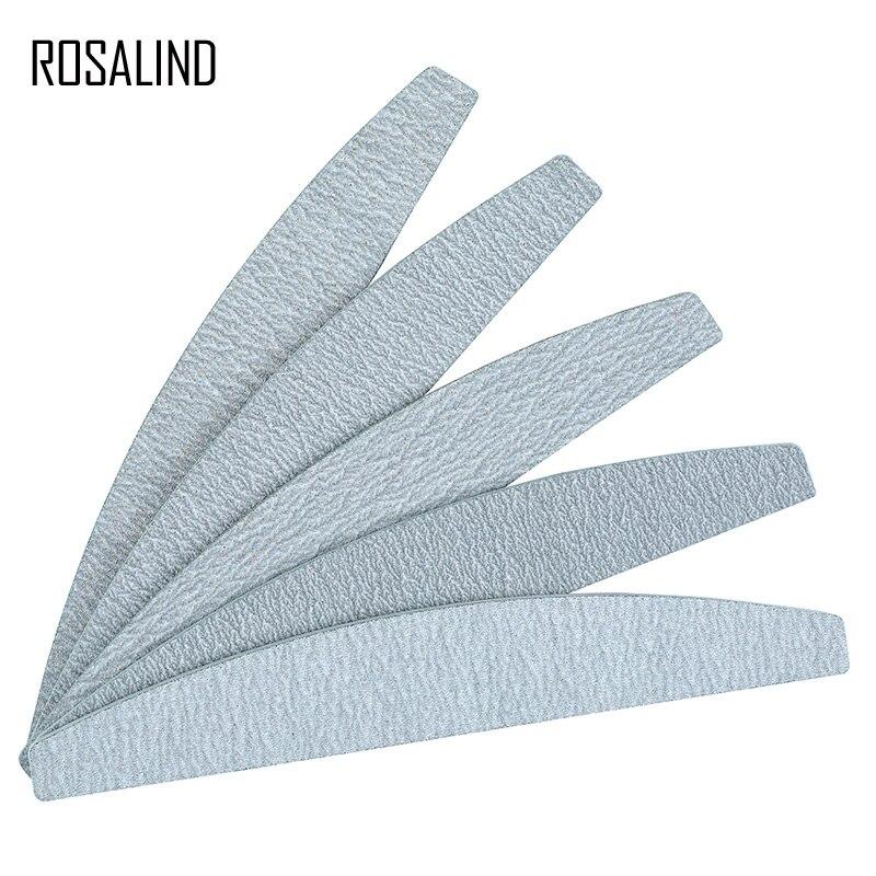 ROSALIND 5PCS/SET Nail Files Set Full Professional Pedicure Manicure Polishing Polish Nail Tools Manicure Tool Nail File Set