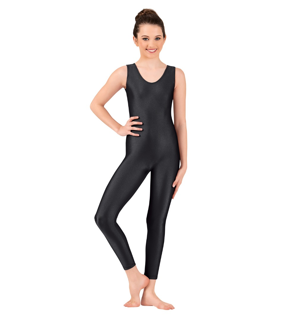 Black spandex dance unitard gymnastics and dancewear - Girls Scoop Neck Nylon Tank Unitard Black Lycra Spandex Unitard Gymnastic Leotard Dance Costumes Ballet Yoga