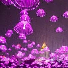 ZINUO LED Jellyfish Night Light Lamp Color Bedside Led Optical Fiber Night Light 220V Novelty Baby Sleep Gift for kids недорого