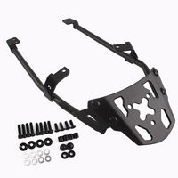 LJBKOALL Black Motorcycle Rear Luggage Rack Carrier Top Mount Fender for 2016 2017 Honda NC700X NC750X