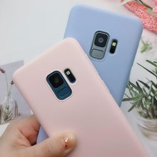 Matte Candy Color Soft TPU Case For Samsung A5 A7 J3 J5 J7 2017 2016 A8 A6 Plus 2018 J4 J6 J8 2018 S6 S7 S8 S9 Plus Note 8 Cover(China)