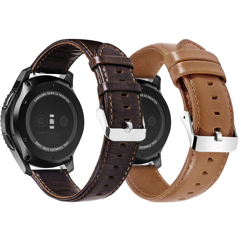 20mm 22mm Leather Strap For Samsung Gear Sport S2 S3 Classic Frontier galaxy watch 42mm 46mm huami amazfit Bip Wrist Strap Band20mm 22mm Leather Strap For Samsung Gear Sport S2 S3 Classic Frontier galaxy watch 42mm 46mm huami amazfit Bip Wrist Strap Band