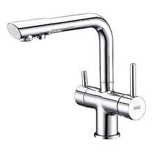Смеситель для кухни под фильтр WasserKRAFT A8017 (Керамический картридж, встроенный аэратор, латунь, хромоникелевое покрытие)