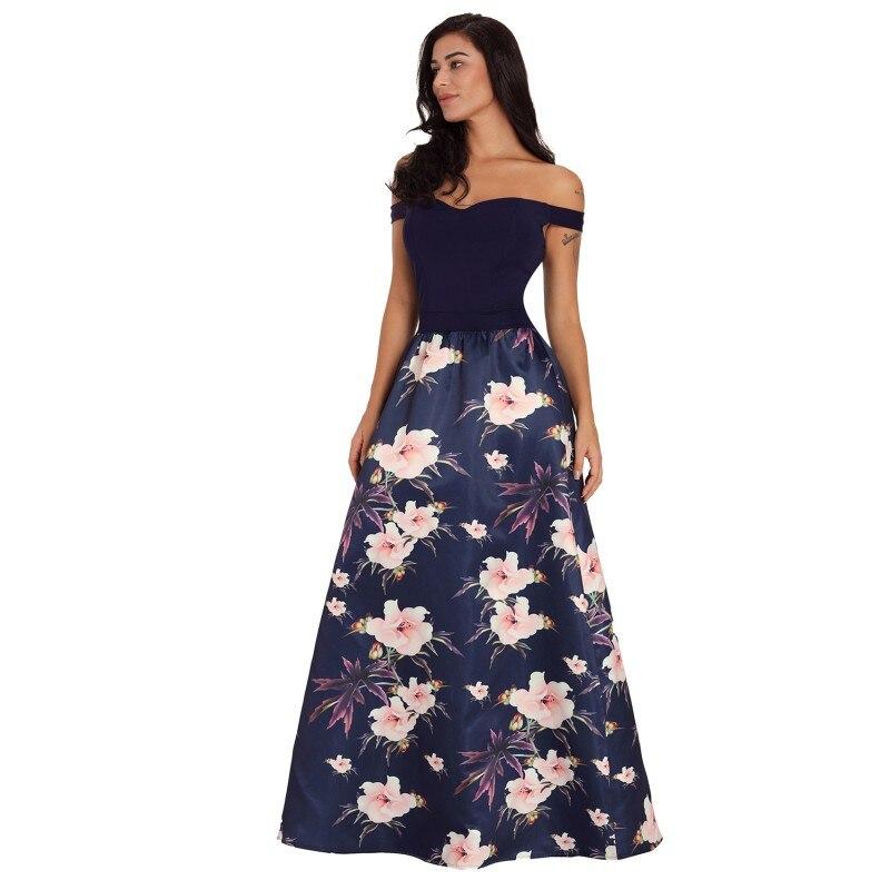c2290ba7f8560 Zmvkgsoa Latest Gown Designs Sexy Off Shoulder Dresses Sweetheart Neck  Bodice Floral Print Women Long Vestidos Dress m610173