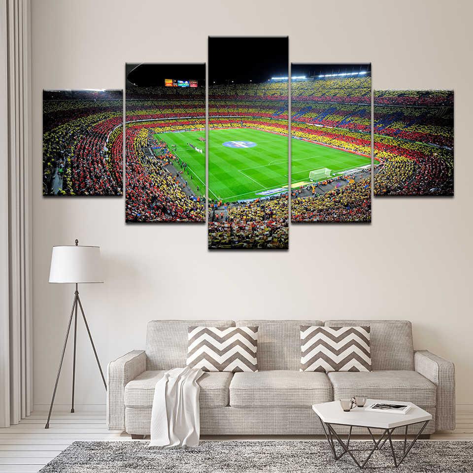 Kanvas Lukisan Spanyol FC Barcelona Olahraga Sepak Bola 5