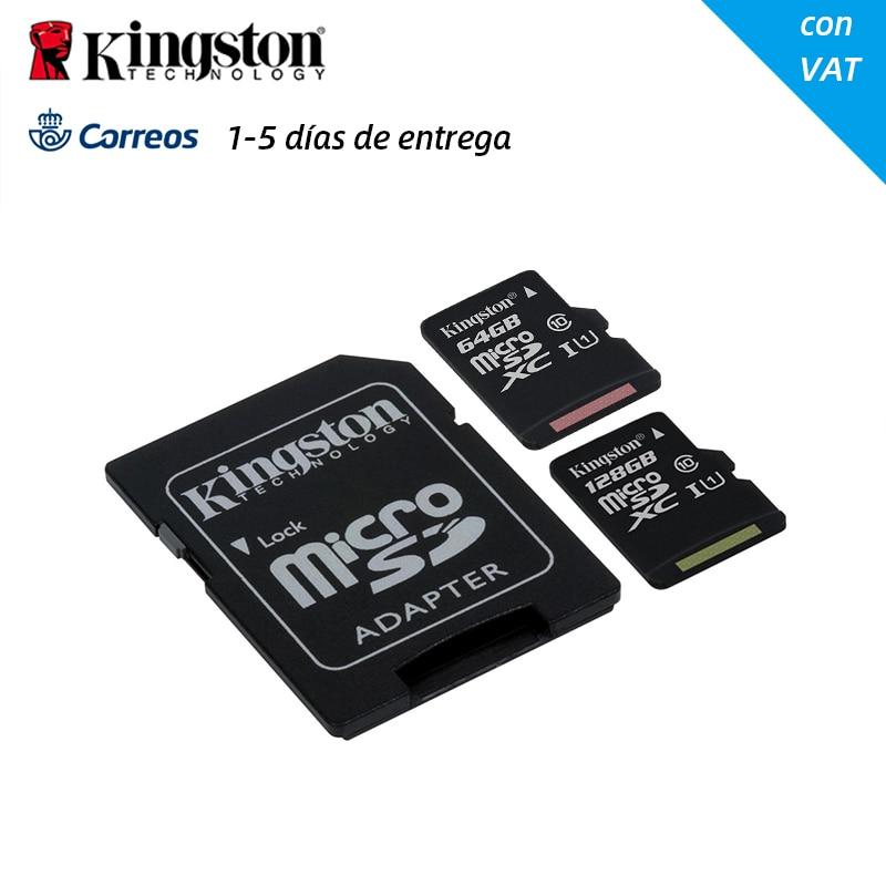 Cartão de memória original 64 128 gb do micro sd do cartão 64 128 gb do sd da classe 10 de sdxc kingston com adaptador do sd