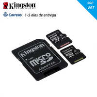 Carte SD originale SDXC Kingston classe 10 64GB 128 GB carte mémoire Micro SD 64 128 GB Mini carte MicroSD TF avec adaptateur SD