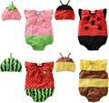 Hot Newborn Infant Baby BB Girl Clothes Ropa de Bebe Kids Boy Costume Hat Cap+Bodysuit Fruit Ladybug Bee Clothing Set Outfit