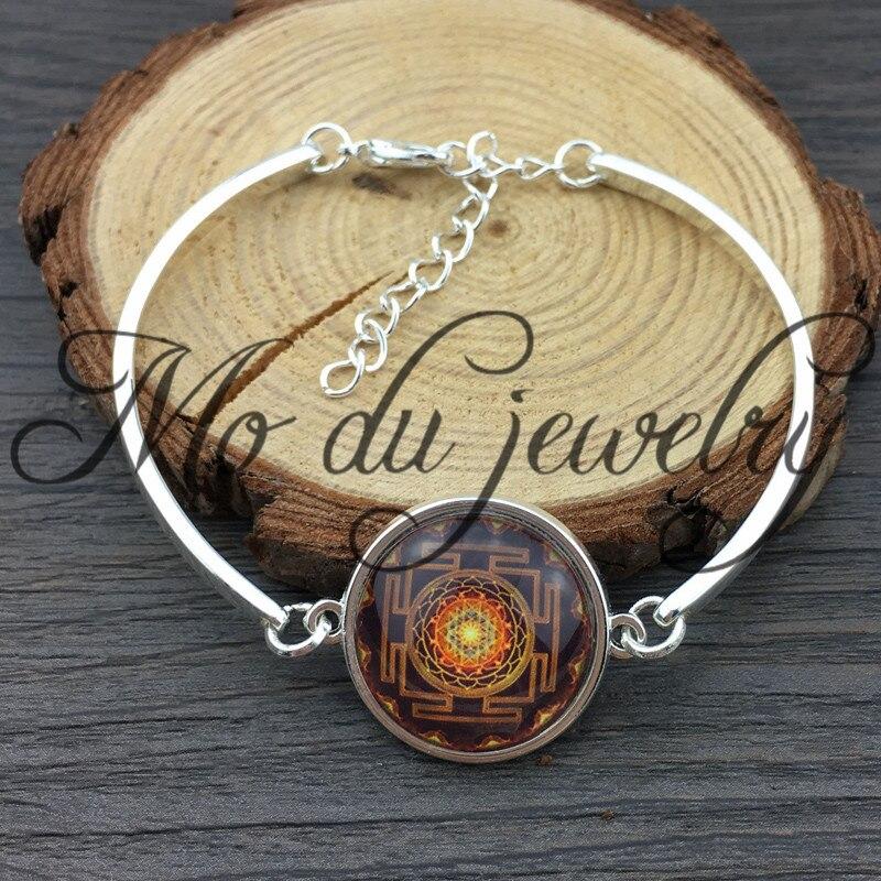 Prix pour Mode Bouddhiste Sri Yantra Ajusté Bracelet Géométrie Sacrée Sri Yantra Bijoux, bijoux en gros