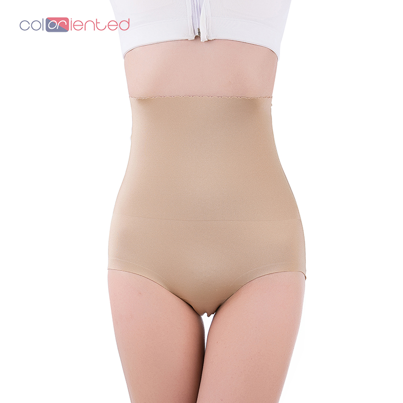 COLORIENTED Top Selling 2019 Womens Sexy Pure Color Underwear Buttock Lifting Underpants Hips Ladies Shaping High Waist Briefs