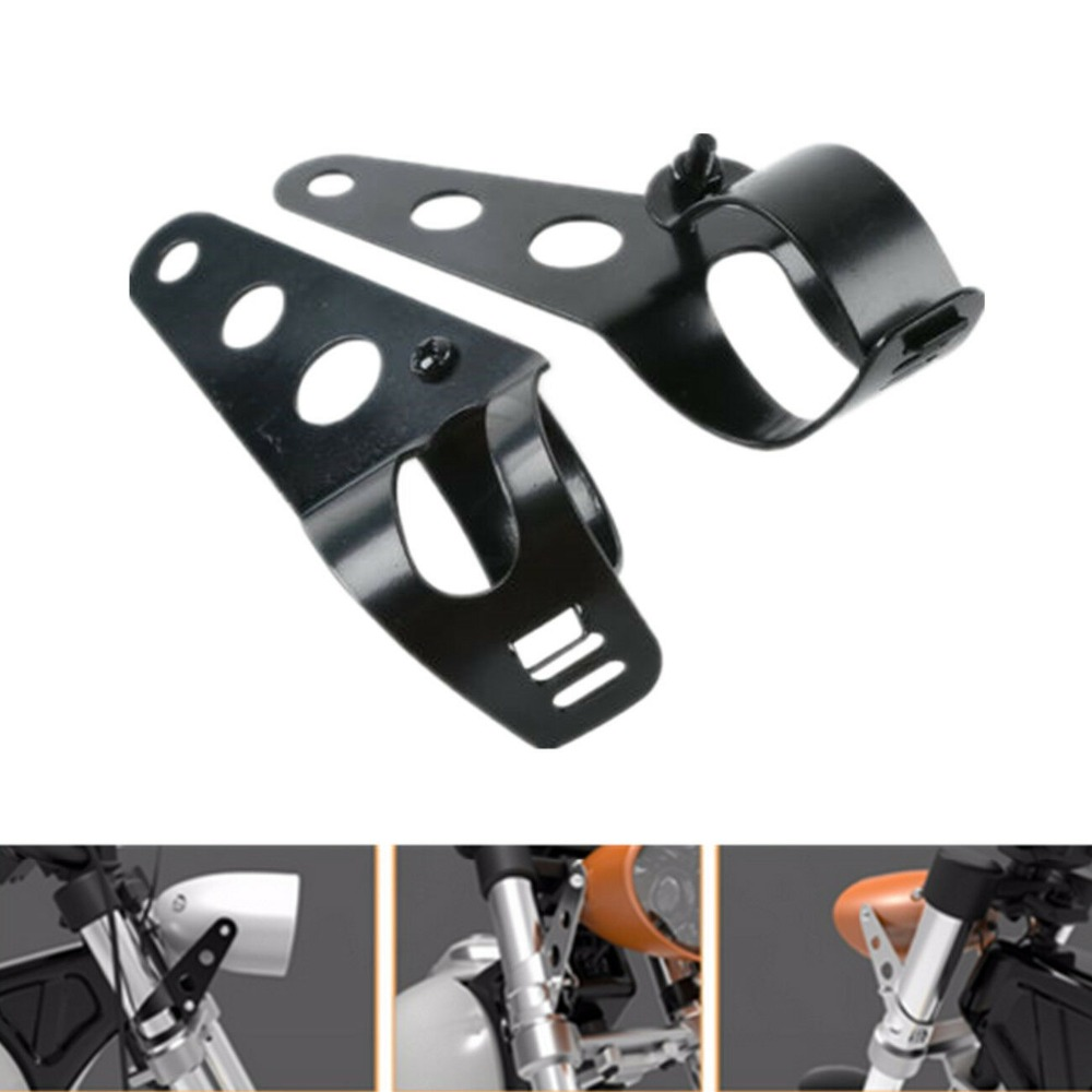 Motorcycle Universal Headlight Mount Bracket For Honda Kawasaki Harley Bobber Racer KZ1000 1100 KZ550 KZ650 35mm-43mm Fork Tube