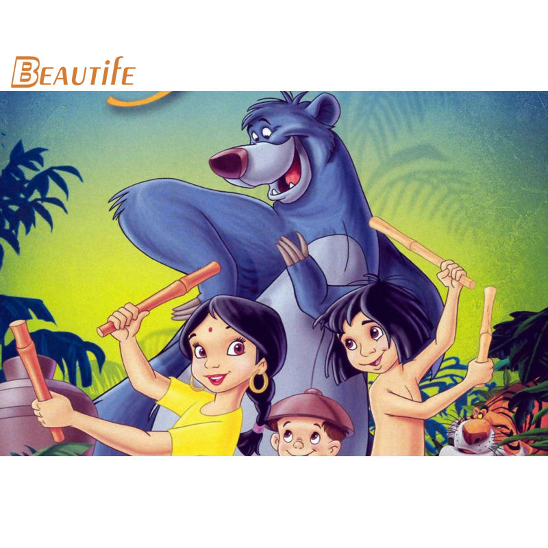 New Arrival The Jungle Book Poster Cloth Silk Poster Home Decoration Wall Art Fabric Poster Print30x45cm,40X60cm.50X75cm,60X90cm